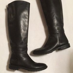 Banana Republic Black Leather Riding Boots sz 7